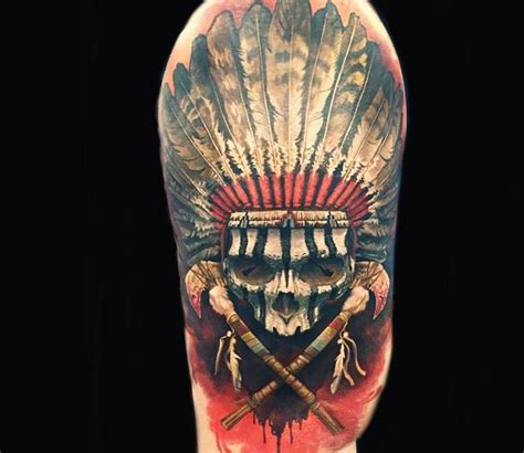 indian head tattoo designs 25 best ideas about indian skull on indian