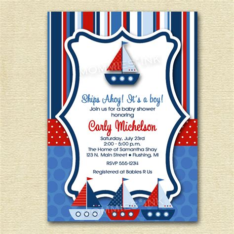 Baby Shower Nautical Theme Invitations by Cheap Nautical Theme Baby Shower Invitations Templates