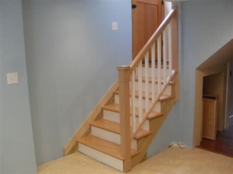 How To Remove Stair Banister Removable Handrail Traditional Staircase Portland