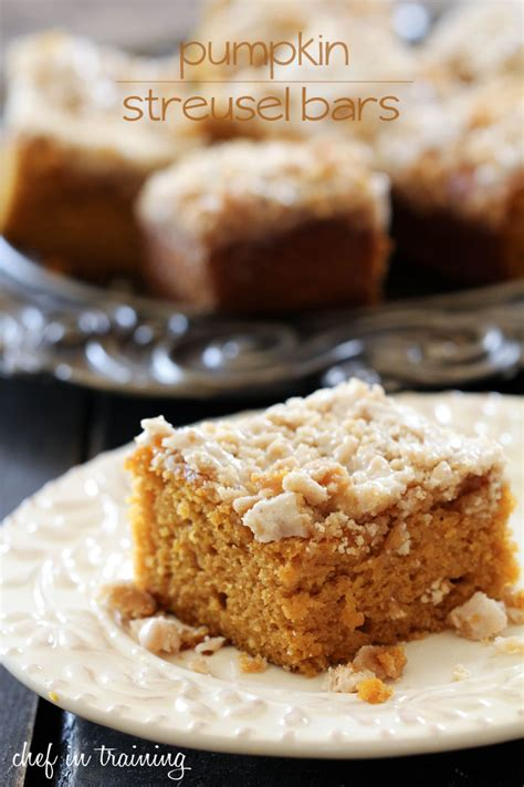 pumpkin bars with streusel topping pumpkin streusel bars chef in training