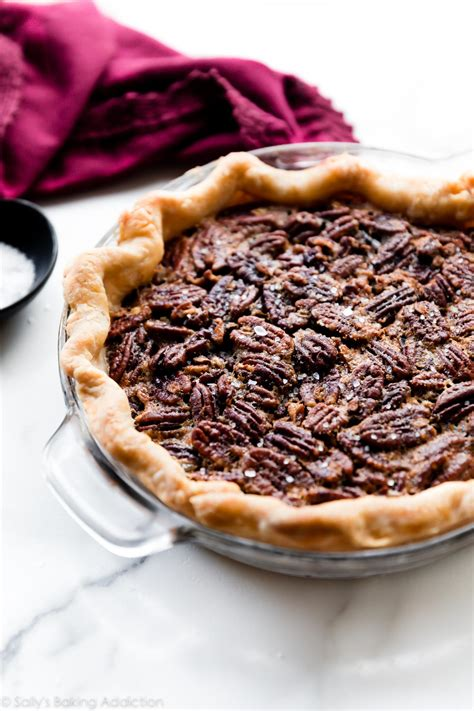maple pecan pie  corn syrup sallys baking