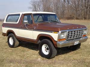 1978 bronco ranger xlt brown white 4x4 automatic 78
