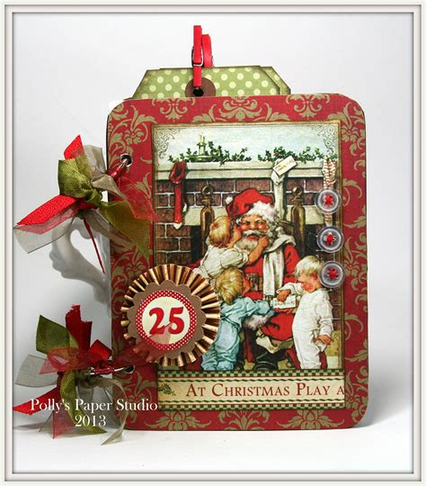 vintage christmas mini album kit polly s paper studio