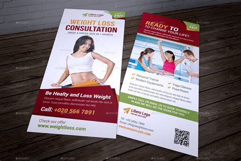 free templates for dl flyers fitness weight loss dl flyer indesign template by jbn