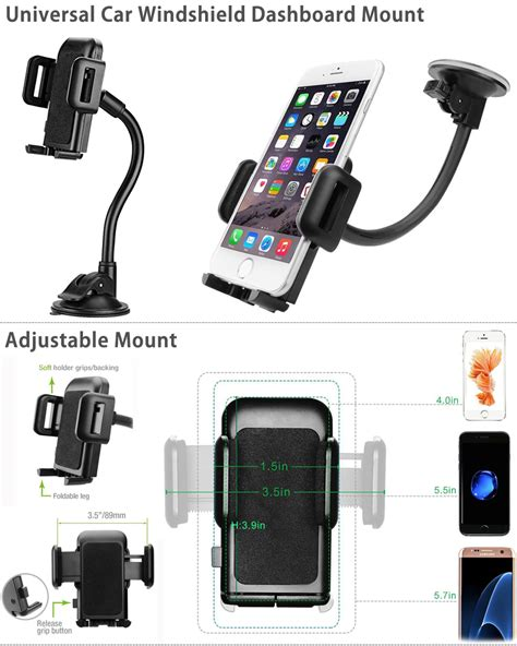 Best Product Lazypod Car Holder Mount Suction Universal Smartphone 360 176 universal car windshield dashboard suction cup mount holder stand for phone ebay