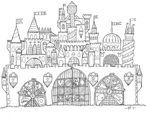 coloring castle mandala pages print cut paste craft 187 archive 187 free printable