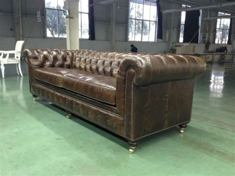 classic chesterfield style sofa set american classic chesterfield vintage leather sofa 033 1