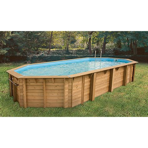 Piscine Hors Sol Leclerc 2649 by Piscine Bois Tonga Octogonale Allong 233 E 820 X 470 X
