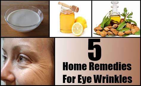 eye wrinkles home remedies treatments cure