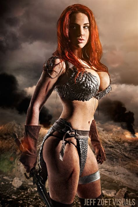 Cosplay Claire Anastasia As Red Sonja