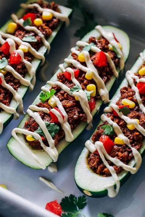 taco boats zucchini vegan zucchini taco boats making thyme for health
