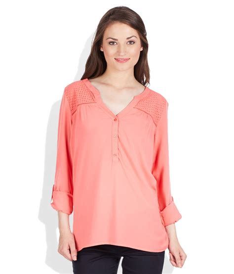 N1 Tenun Blouse Tunic buy only coral solid tunic at best prices in india snapdeal