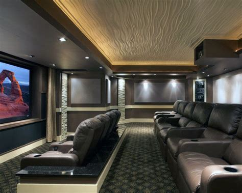 Home Theatre Interiors by 80 Home Theater Design Ideas For Room Retreats
