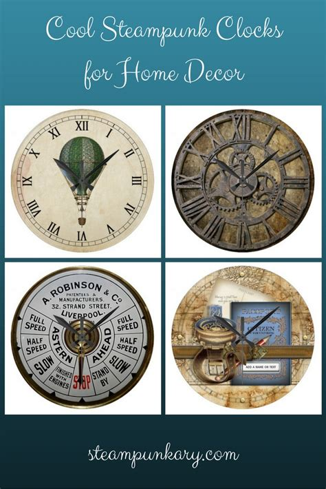 clocks home decor cool steunk clocks for home decor