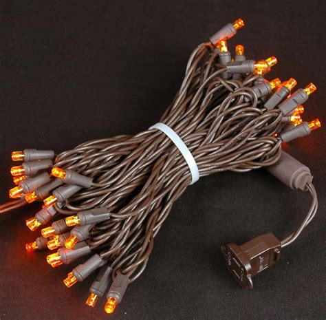 orange and amber led christmas lights novelty lights inc