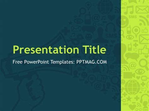 Free Digital Marketing Powerpoint Template Pptmag Marketing Template Powerpoint