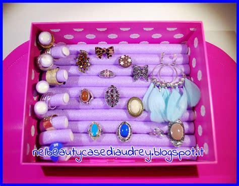 scatola porta orecchini fai da te nel beautycase di come realizzare una scatola