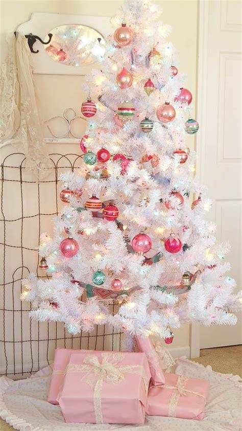 pink and white xmas tree skirt diy tree skirt using a vintage sheet my repurposed