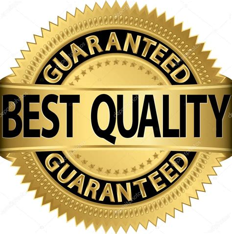 Best Quality by Best Quality Guaranteed Golden Label Vector Illustration