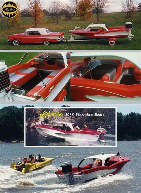 glastron race boats 1957 chevrolet and boats on pinterest