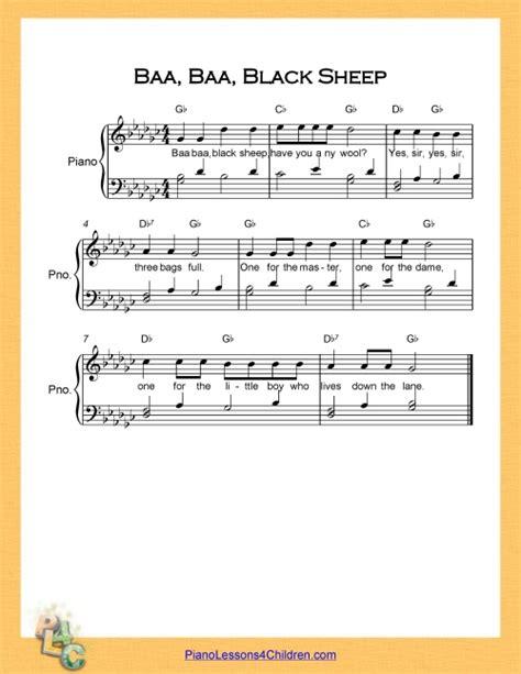 top 100 piano bar songs baa baa black sheep lyrics videos free sheet music