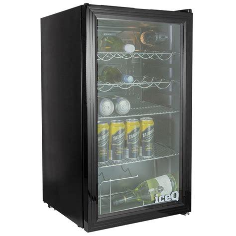 iceq 93 litre counter glass door display fridge