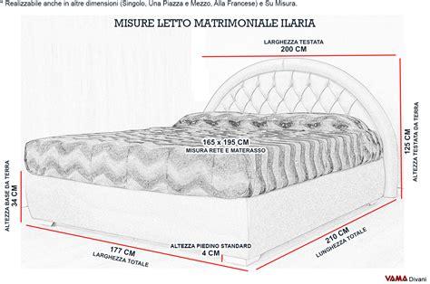 misure letto matrimoniale letto matrimoniale in pelle con testata in capitonn 232 tonda