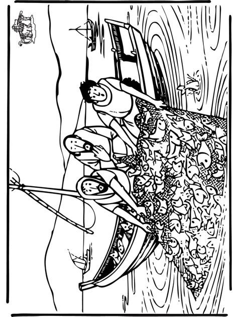 coloring page of disciples fishing coloring page the disciples great catch of fish haiti