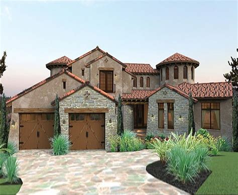 southern custom homes twin turrets define this quintessential tuscan designed