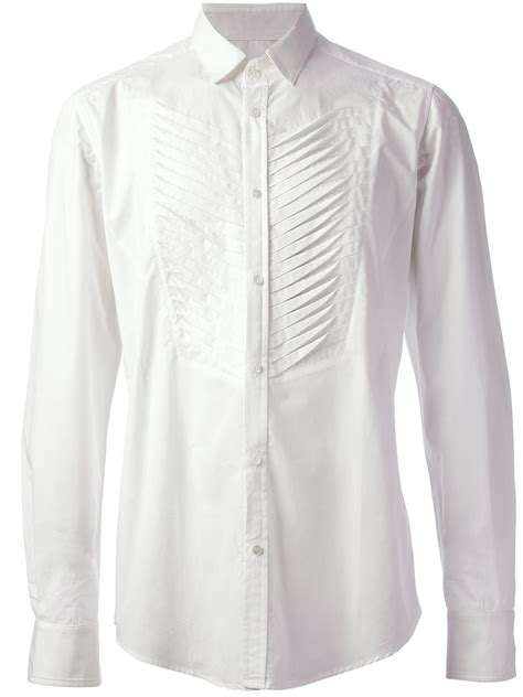 Pleated Shirt tom rebl pleated shirt in white for lyst