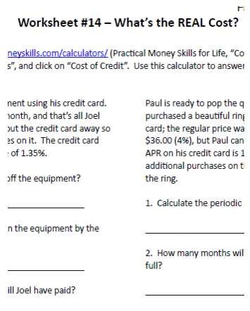 Financial Math Worksheets by Math Economics Archives 7sistershomeschool