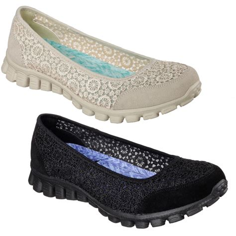 skechers shoes skechers flighty black memory foam ballet