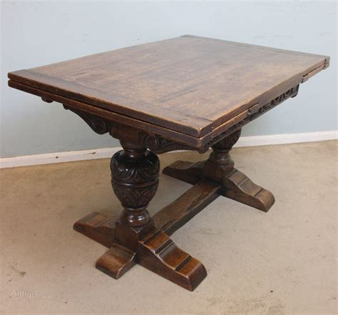 antique oak table antique oak draw leaf refectory dining table antiques atlas