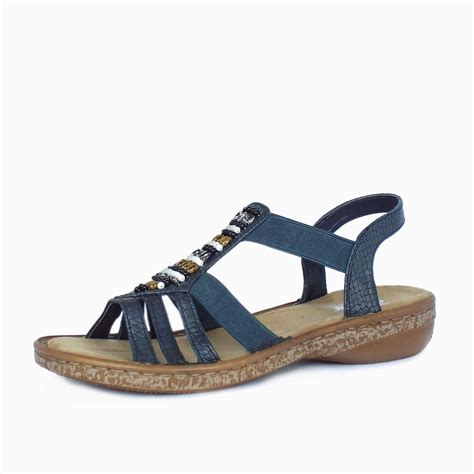 sandals in style rieker antistress horizon s comfortable navy blue