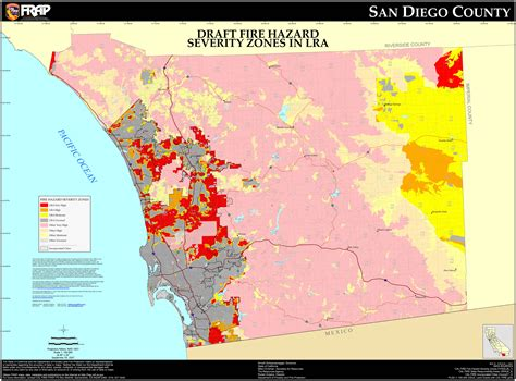 San Diego County Records Cal San Diego County Fhsz Map