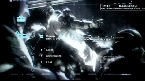 ps4 themes batman batman arkham origins free dynamic themes how to get