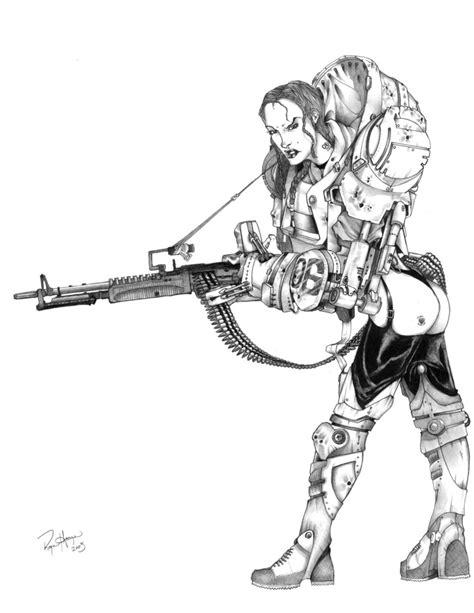 machine gun mary by rhoogers on deviantart