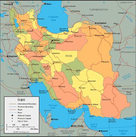 map in iran iran map and satellite image