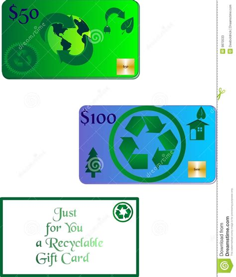 Gift Card Recycling - the gift card of recycling stock photos image 9870533