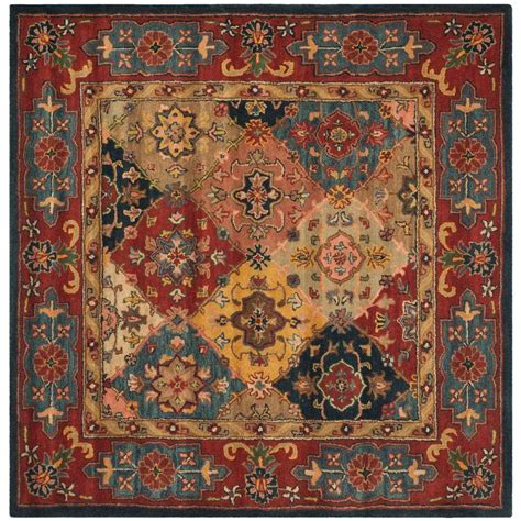 10 X 10 Ft Square Rug - safavieh heritage multi 10 ft x 10 ft square area