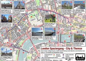 london spaziergang amp themse tour pdf plan