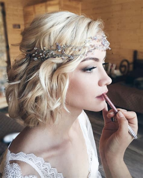 boho bob 42 wedding trends for short hair this season style skinner