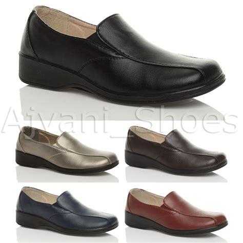 womens comfort walking shoes womens ladies comfort low heel wedge slip on work loafers