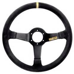 Sparco Steering Wheel Sparco Racing 345 Suede Black Steering Wheel Sparcoracingusa