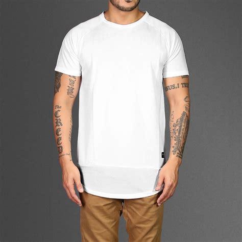 t shirt perf leightweight longline white t shirt wehustle