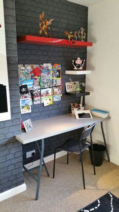 desk for boys 1000 ideas about brick wallpaper bedroom on