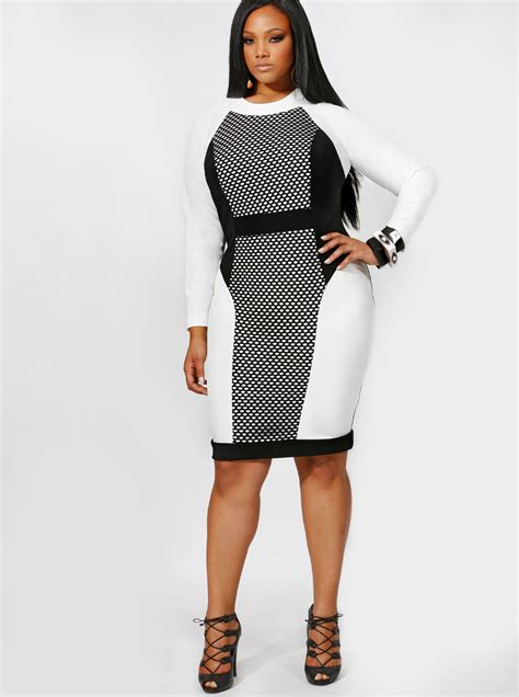 design dress black and white hot new 2016 women clothing plus size black and white