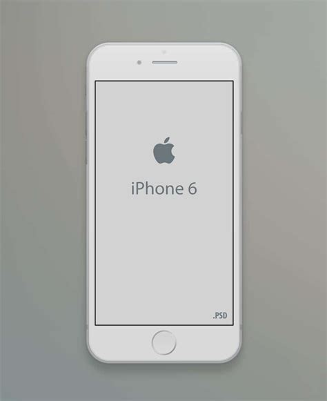 Iphone 6 Mockup Template Psd Iphone Psd Template Free