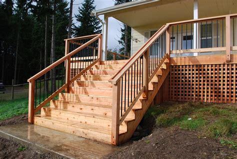 wood deck installation northwest decks wood deck installation