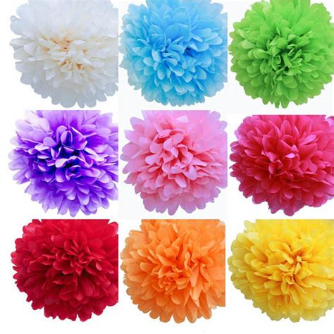 How To Make Hanging Paper Flowers - 10 inches paper pompom handmade hanging flower balls